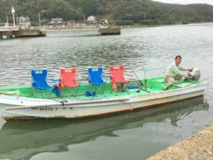 船釣りでは椅子もご用意しております。